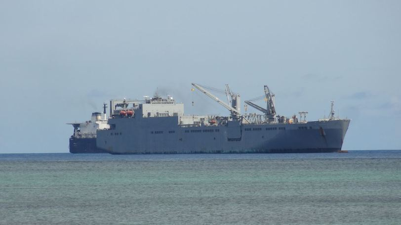 Some serious ships in the waters around Saipan