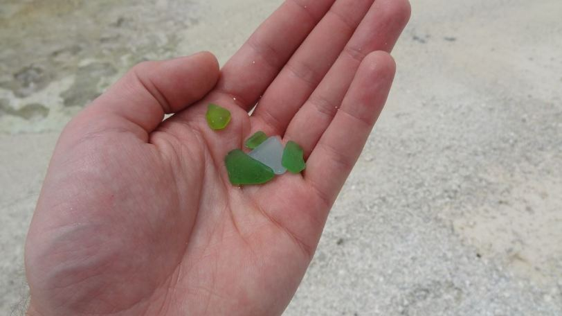 Wing Beach was littered with some great sea glass!