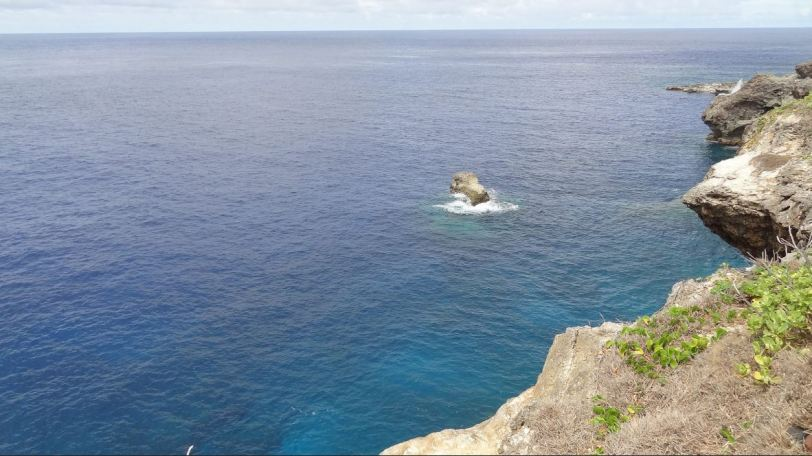 The view off of Banzai Cliff, where many Japanese soldiers met their end...