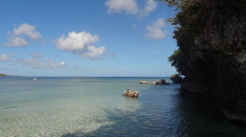 Gun Beach, a short drive (or walk) north of Tumon Bay. Beautiful and (usually) quiet