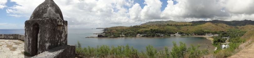 "Guam has a long history of different ""landloards"", here is the view from Fort Nuestra Senora de la Soledad, an old Spanish establishment in the south of Guam."