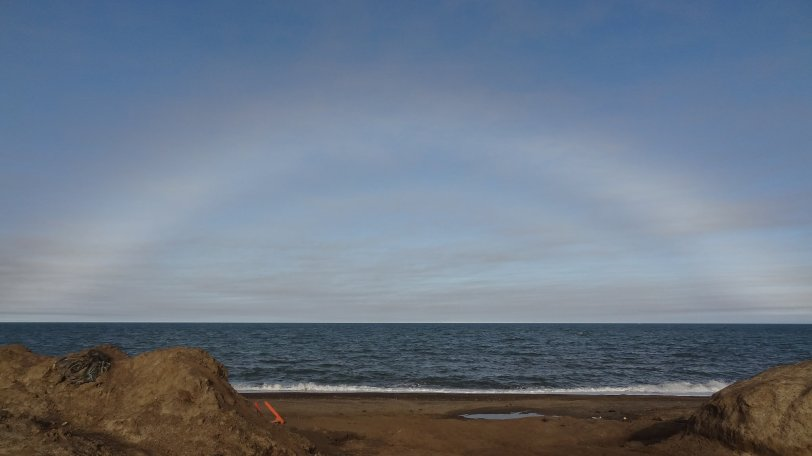 An icebow over the Arctic Ocean