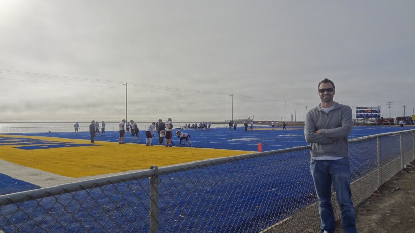 The Barrow Whalers, made famous by an NFL Network series, are the only high school football team north of the Arctic Circle. Their field is just feet from the Arctic Ocean!