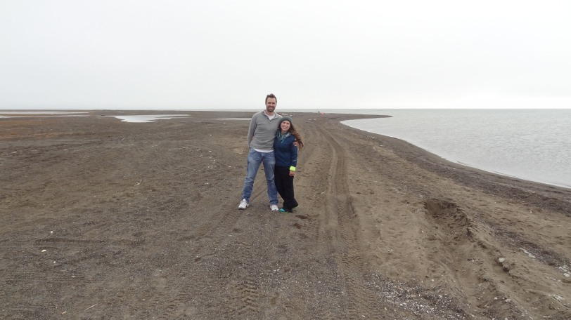Breeah and I at Point Barrow, as far north as you can go in the United States